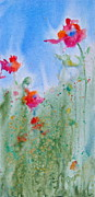 Splashy Painting Originals - Field Flowers by Reveille Kennedy