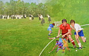 Hockey Mixed Media - Field Hockey by Cliff Spohn
