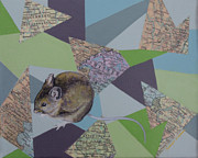 Maps Paintings - Field Mouse by Ramey Guerra