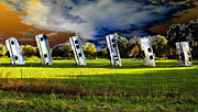 Antique Digital Art Prints - Field of Airstreams Print by David Lee Thompson