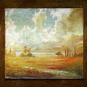Tuscan Sunset Paintings - Field of Dreams by Christopher Clark