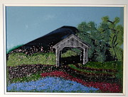 Fused Glass Art Framed Prints - Field of Dreams Framed Print by Lisa Kohn