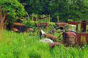 Rusted Cars Photos - Field of Dreams by Randy Harris