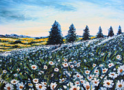 Impressionistic  On Canvas Paintings - Field of Flowers by Drinka Mercep