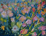 Ferns Paintings - Field of Flowers by Joanne Smoley