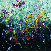 Field Of Flowers Paintings - Field of Flowers by Patricia Benson