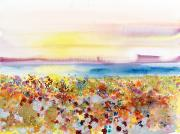 Horizontal Abstract Landscape Prints - Field of Joy Print by Tara Thelen - Printscapes