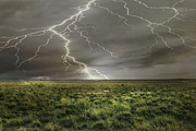 Lightning Poster Posters - Field of Light Poster by Andrea Hazel Ihlefeld