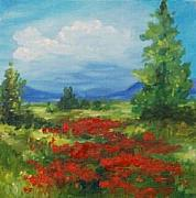 Poppies Field Paintings - Field Of Poppies 2007 - SOLD by Torrie Smiley