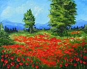 Torrie Smiley Metal Prints - Field of Poppies III Metal Print by Torrie Smiley