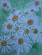 Kathy Marrs Chandler Art - Field Of Wild Daisies by Kathy Marrs Chandler