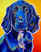 Dog Paintings - Field Retriever - Otis by Alicia VanNoy Call