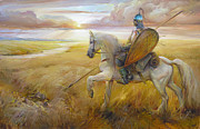 Russia Paintings - Field by Roman Romanov