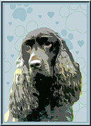 Field Spaniel Print by One Rude Dawg Orcutt
