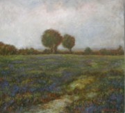 Jammie Williams - Field with blue flowers