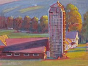 Berkshire Hills Posters Painting Originals - Fields Farm by Len Stomski
