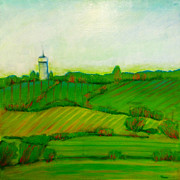 Demo Originals - Fields in Greens and Blues by Sandrine Pelissier