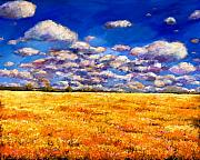 Wildflowers  Painting Prints - Fields of Gold Print by Johnathan Harris