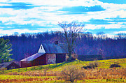 Barn Digital Art Prints - Fields of joy Print by Bill Cannon