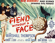 1950s Poster Art Framed Prints - Fiend Without A Face, 1958 Framed Print by Everett