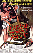 1950s Movies Prints - Fiend Without A Face, Kim Parker Print by Everett