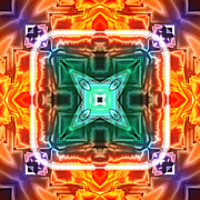 Meditative Digital Art - Fiery by Ann Croon