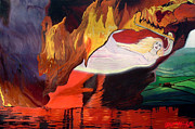 Visionary Art Painting Prints - Fiery Baptize Print by John Paul Blanchette