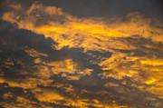 Photographs Digital Art - Fiery clouds by Lyubomir Kanelov
