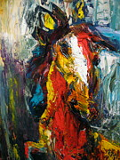 Kentucky Derby Paintings - Fiery Horse by Jeff Hunter