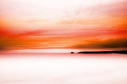 Sea View Art - Fiery Red Sea View by Dorit Fuhg
