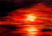 Lyn Deutsch Art - Fiery Skies by Lyn Deutsch