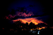 Frank Digiovanni Prints - Fiery Sunset Print by Frank DiGiovanni
