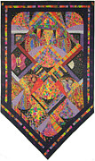 Quilts Tapestries - Textiles - Fiesta de los Angeles by Salli McQuaid
