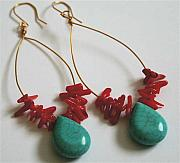 Red Jewelry - Fiesta Earrings by Laura Knight