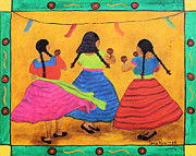 Chicana Mixed Media - Fiesta en mi Pueblo by Sonia Flores Ruiz