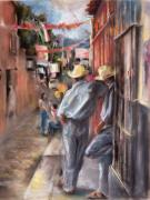 Street Pastels - Fiesta by Joan  Jones