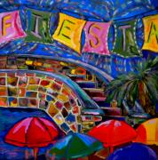 Riverwalk Paintings - Fiesta by Patti Schermerhorn
