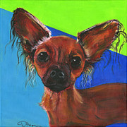 Pooch Paintings - FiFi by Debbie Brown