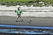 Little Dogs Photos - FiFis Day at the Beach  by Pamela Patch