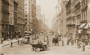 Store Fronts Prints - Fifth Avenue New York City 1907 Print by Padre Art