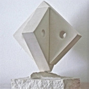 White Sun Sculpture Prints - Fifth Chakra Swastika  Print by Frank Pasquill