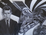 Rod Serling Drawings - Fifth Deminsion by Jeff Stephens