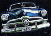 Collector Painting Originals - Fifty Ford by Mike Hill