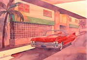 Cadillac Painting Posters - Fifty Nine Poster by Robert Hooper