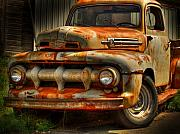 Truck Framed Prints - Fifty Two Ford Framed Print by Thomas Young