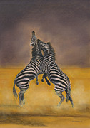 Zebra Pastels - Fight for Survival by Bev Lewis