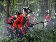 Frontier Art Prints - Fight in the Forest Bushy Run 1763 Print by Randy Steele