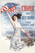 Lady Liberty Art - Fight or Buy Bonds by War Is Hell Store