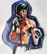 Bruce Lee Painting Originals - Fighting Fit - Portrait of Bruce Lee by Abin Raj