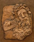 Clay Reliefs Originals - Fighting His Demons by Sharon Dixon